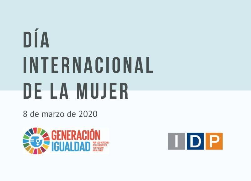 Día Internacional de la Mujer 2020. Soy de la Generación Igualdad