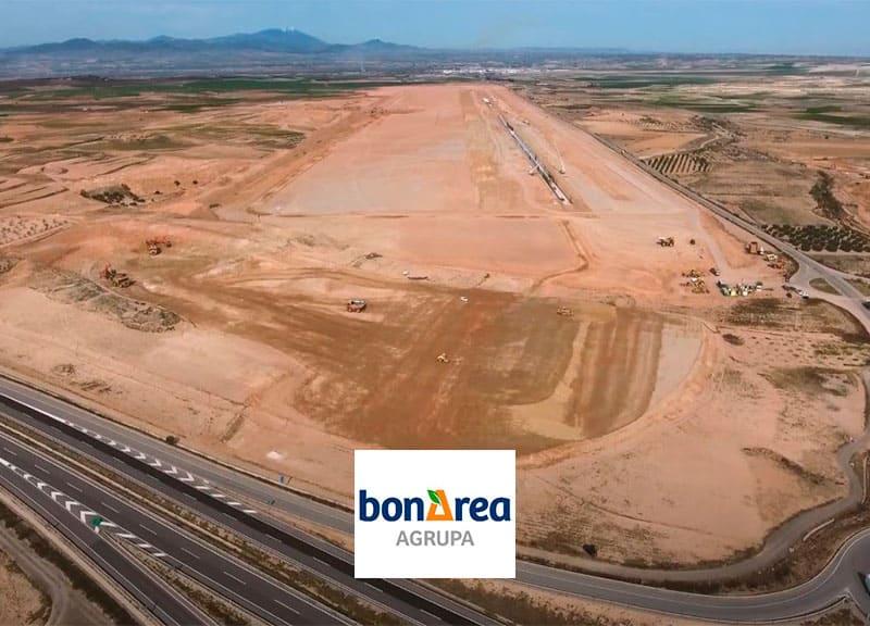 Avanzan a buen ritmo las obras del nuevo Parque Agroalimentario de bonÀrea en Épila (Zaragoza)