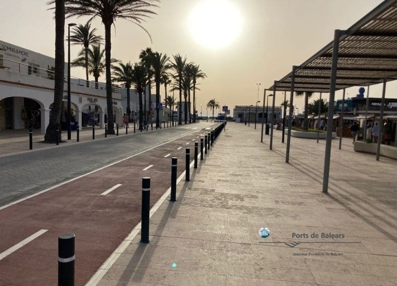 Finalizan las obras de reurbanización del puerto de la Savina en Formentera